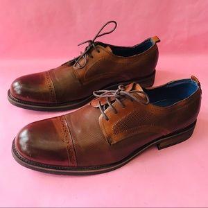 New orange brown Steve Madden leather shoes